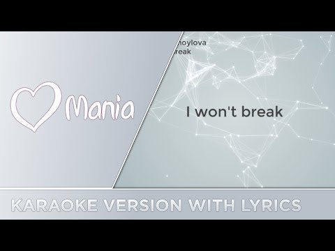 Yuliya Samoylova - I Won't Break (Russia) // Karaoke Version // ESC Mania