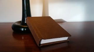 Leather working - Turning a Paperback Book Into a Leather Bound Hardback