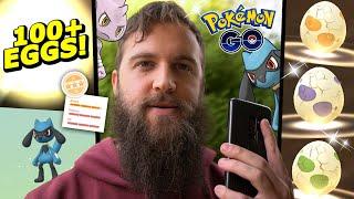 SO MANY RIOLU! 100+ 2KM Egg Hatch u0026 More! (Pokemon Go Easter Event Day 6 + 7)