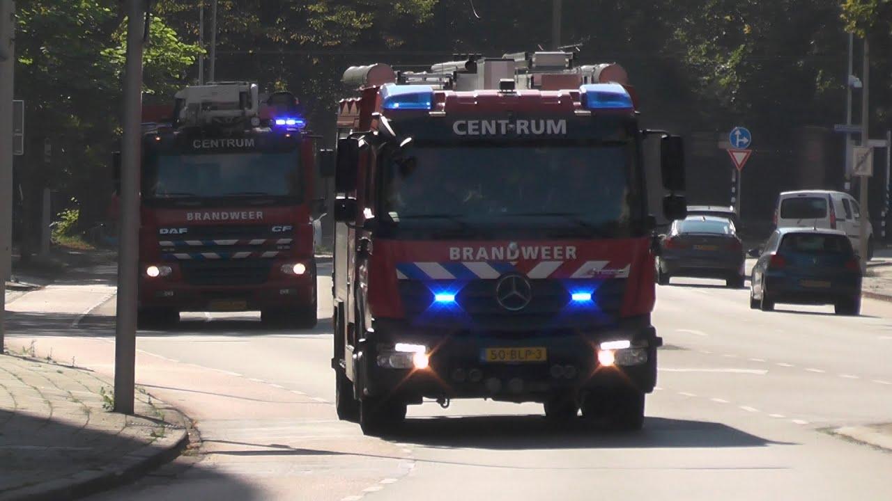 Brandweer Den Haag Centrum en Rapid Responder met spoed in Den Haag! #1176