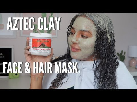 using-the-aztec-clay-mask-on-my-face-and-skin