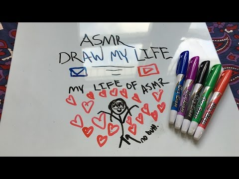 ASMR DRAW MY LIFE | MY LIFE OF ASMR