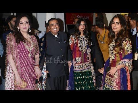 Mukesh Ambani, Nita Ambani and Isha Ambani reach Jodhpur for Priyanka Chopra and Nick Jonas Marriage