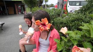Mighty Campers - Girls fun beach break in Auckland in the Jackpot campervan