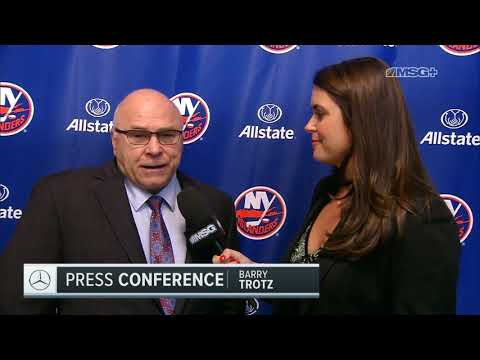 Barry Trotz Evaluates First Win | New York Islanders | MSG Networks