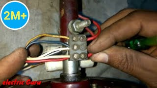 Ceiling Fan installation | Primary and Secondary Winding ke connection kaise kare | Electric Guru