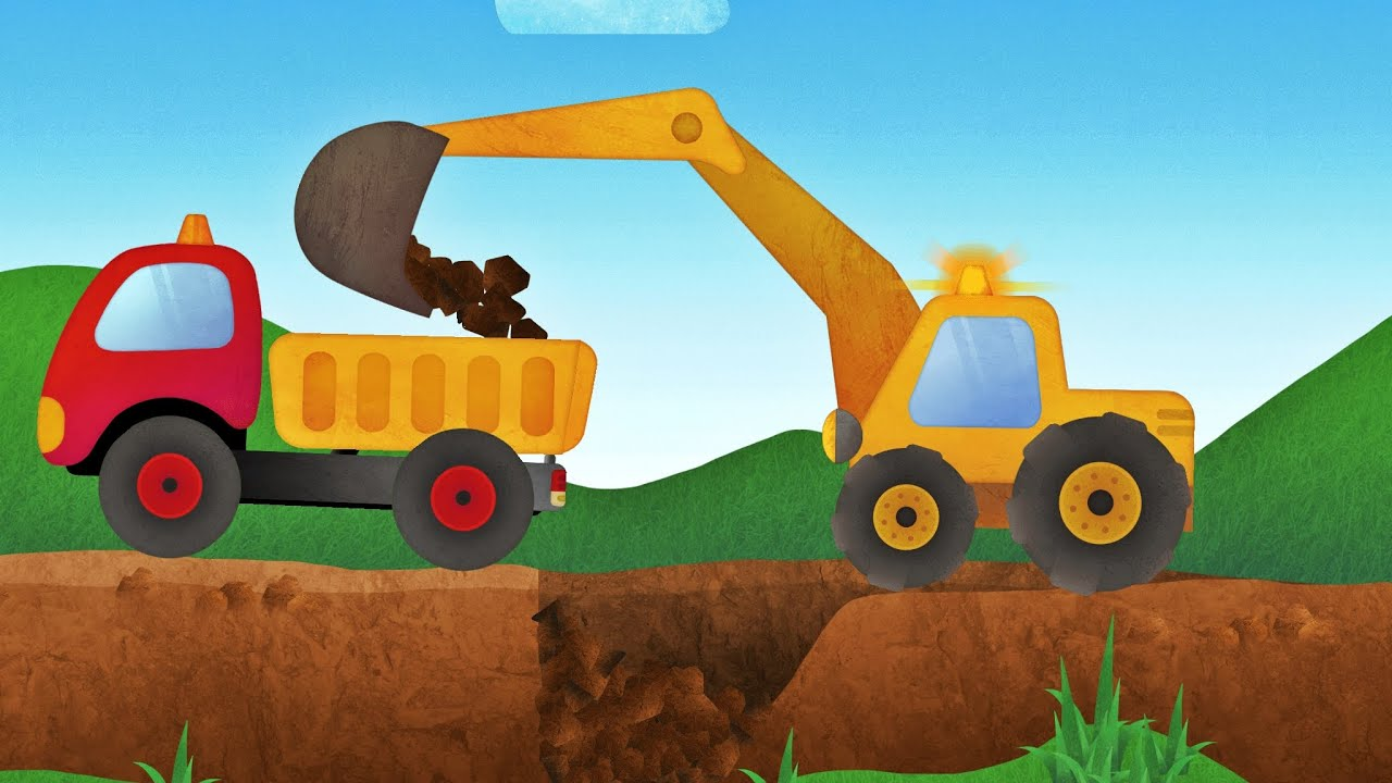 tony the truck construction vehicles app for kids diggers