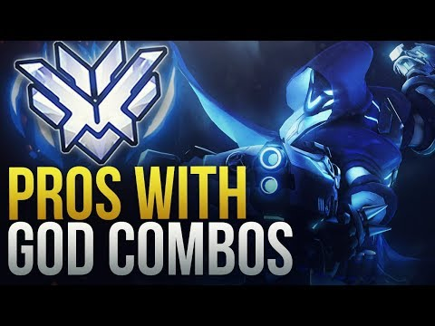 WHEN PROS DO GOD COMBOS  - Overwatch Montage thumbnail