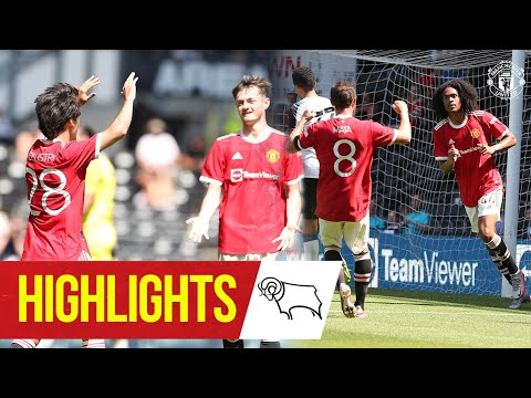 Chong & Pellistri give Reds victory at Derby    Highlights    Derby County 1-2 Manchester United