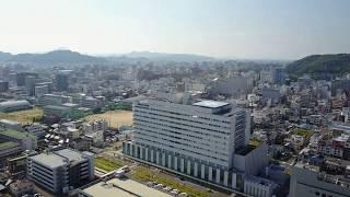 愛媛県立中央病院 ヘリポート付き 中予地区の拠点医療機関 新築になり綺麗になりましたね