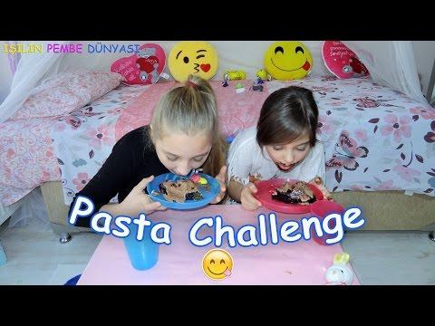 Pasta Challenge - Ellerimizi Hiç Kullanmadan - Eğlenceli Çocuk Videosu - Funny Kids Videos