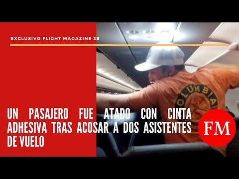 Un pasajero fue atado con cinta adhesiva tras acosar a dos azafatas de vuelo