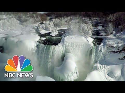 ICYMI: NBC's Drone Footage Of Frozen Niagara Falls   NBC News