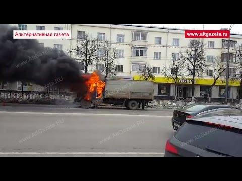 Горит грузовик в Сергиевом Посаде