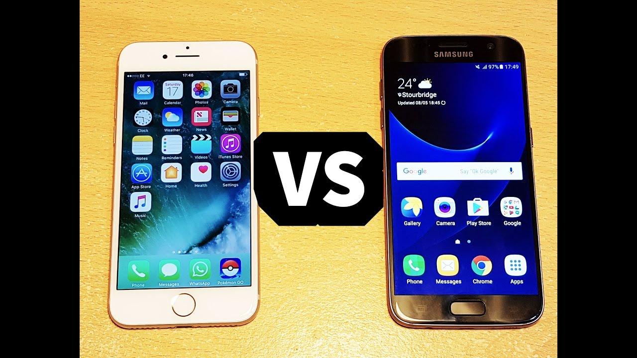 Iphone 7 vs galaxy s7 edge speed test