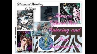 Diamond Painting Unboxing & First Impression - Huacan Haul #9 - Six kits!!!!