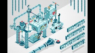 Isometric Machinery Construction Kit Demo