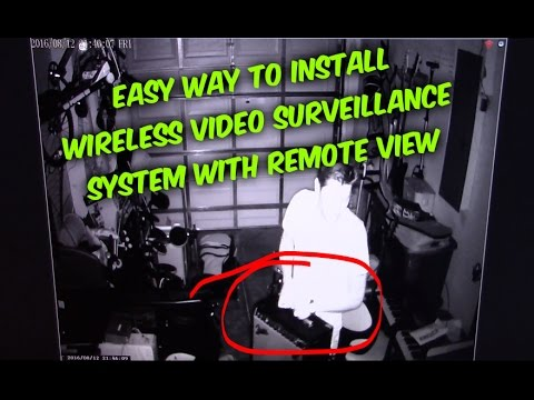 Easy way How to install Wireless Security Cameras & Connect to Phone for remote view