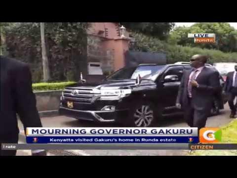 Kenyatta arrives in Runda to Condole with the Family of the late Governor Gakuru