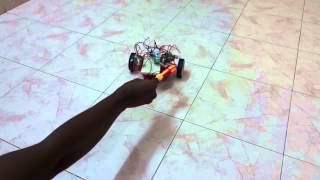 Touch me not and follow me robot using l293d