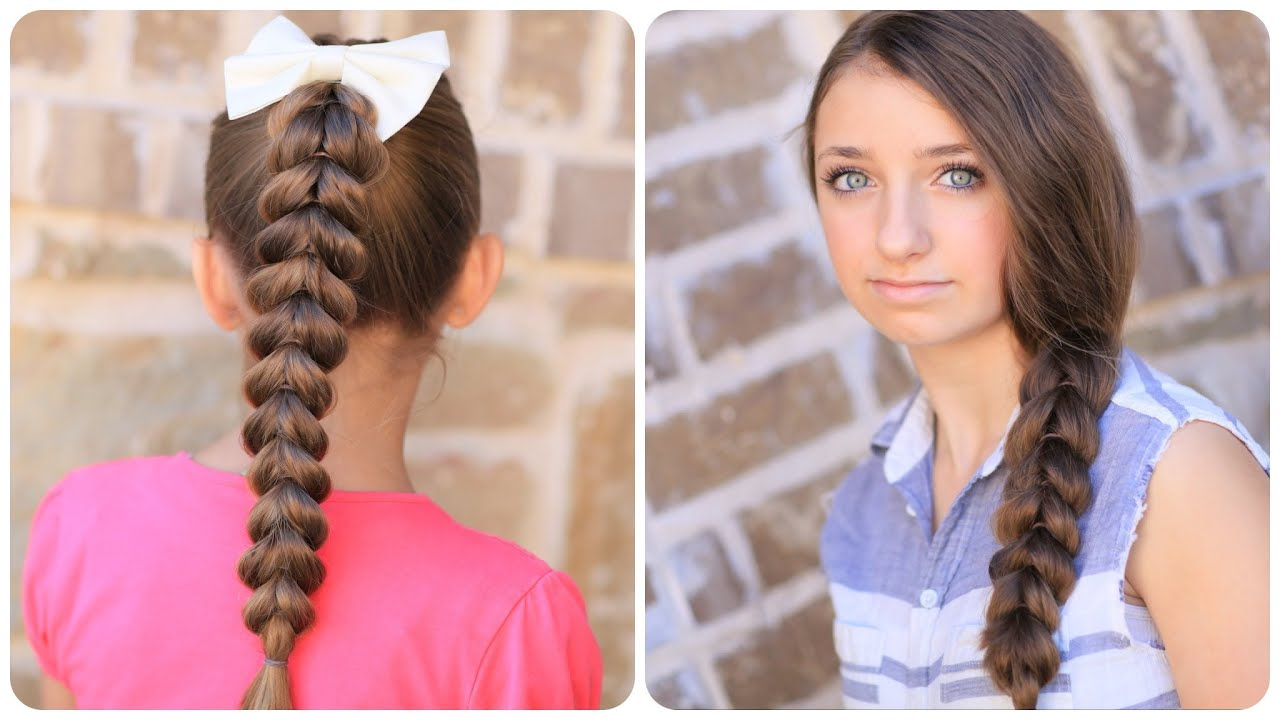 Cute Easy Hairstyles For Long Hair 18 easy long hairstyles for valentines day How To Create A Pull Through Braid Easy Braided Hairstyles Youtube