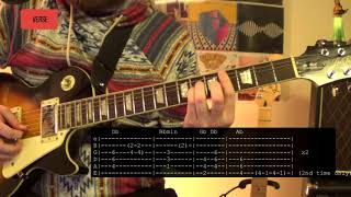 Green Day Back In The USA Guitar Lesson Tutorial WITH TABS ONSCREEN