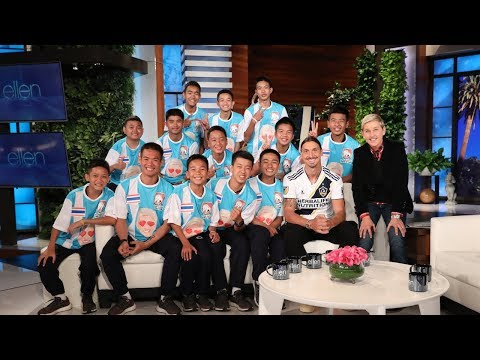 Ellen Talks to Thai Soccer Team in Their First InStudio  Since Cave Rescue