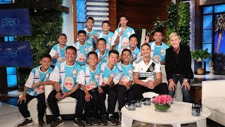 Ellen Talks to Thai Soccer Team in Their First In-Studio Interview Since Cave Rescue