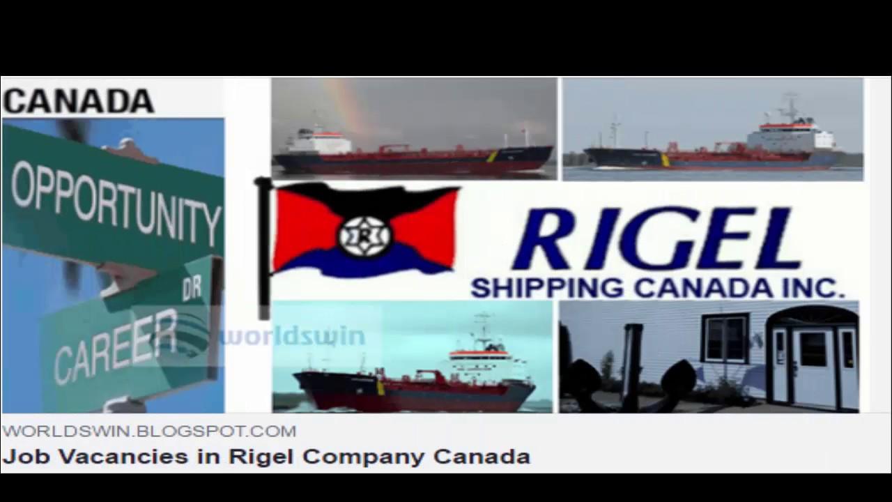 job vacancies in rigel company canada