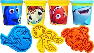 Gambar cover Play-Doh Finding Dory Molds & Surprise Eggs, Learn Colors, nursery rhymes