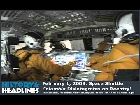 Download February 1, 2003: Space Shuttle Columbia Disintegrates on Reentry!
