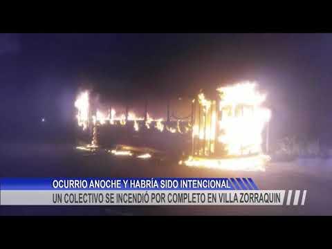 Incendiaron un colectivo en Villa Zorraquín