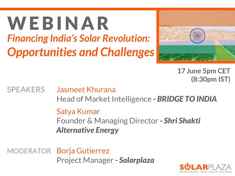 India Webinar - Financing India's Solar Revolution Opportunities and Challenges