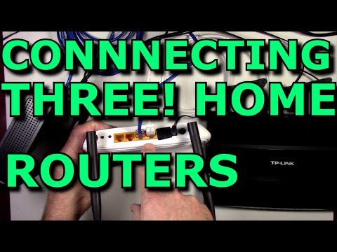 How To Connect Three Routers On A Home Network And Sharing The Internet Using Lan Cables