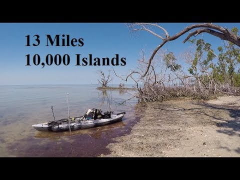 13 Miles In The 10,000 Islands, Everglades National Park, FL Kayak Fishing