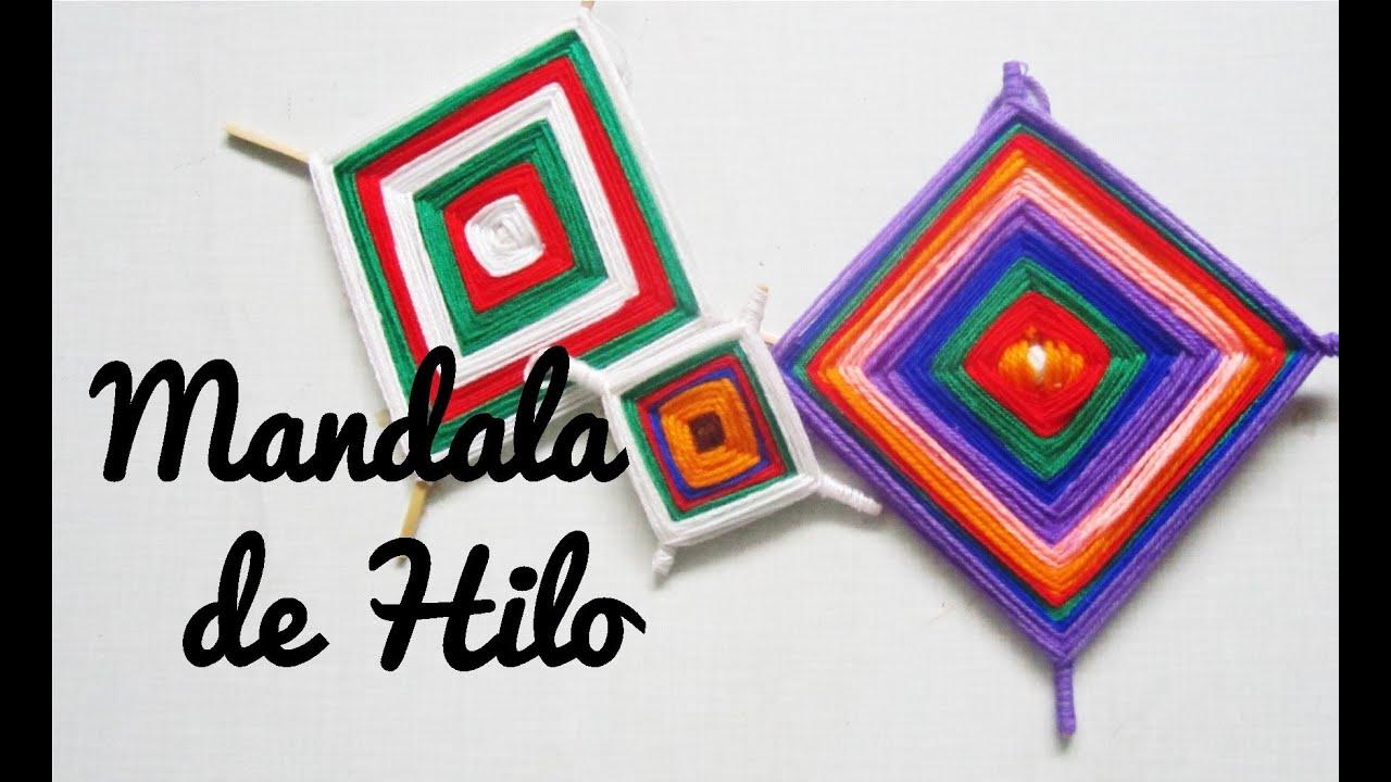 Mandala de hilo manualidad 120 youtube - Manualidades con hilo ...