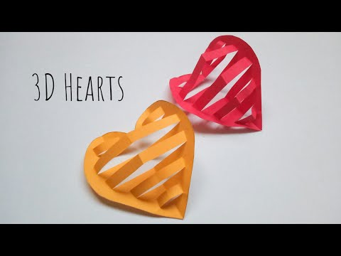 Easy Paper Heart | Paper Heart Ornaments | Wall Decor Ideas for Valentines Day | Wall Hanging Crafts