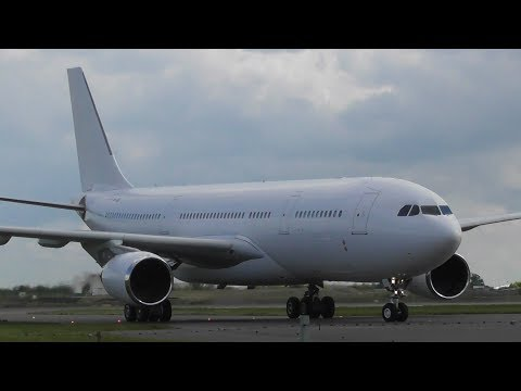 CRAZY CLOSE Airbus A330 VP-CBE at Stansted Airport