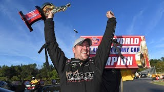 Sean Bellemeur wins the 2018 Top Alcohol Funny Car Championship