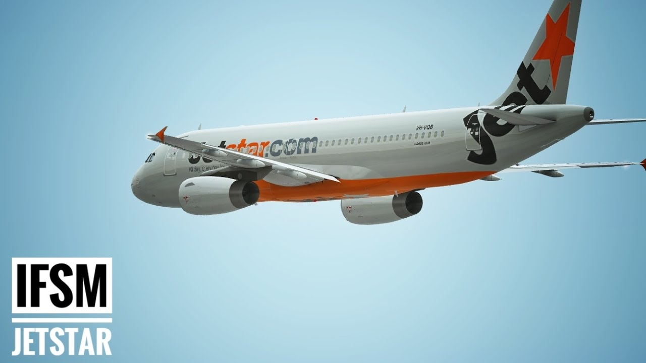 Infinite Flight Jetstar Airlines livery Airbus A320 - YouTube