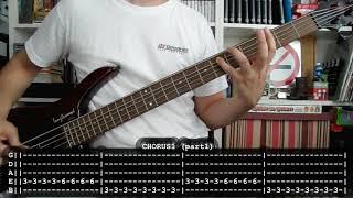 RAMMSTEIN - Du riechst so gut (bass cover w/ Tabs) [5 string bass]