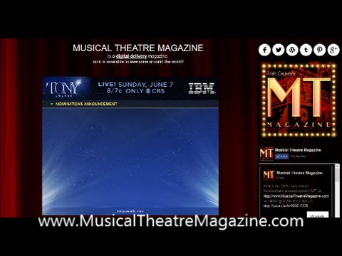 2015 Tony Award Nominations Announcement on Musical Theatre Magazine