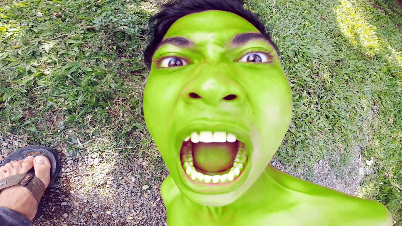 HULK learning transformation with shooter | hulk transformation in real life