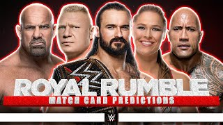 Welcome everyone to my wwe royal rumble 2021 match card predictions video where i give you for the ppv! predict mat...