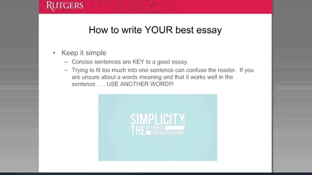 the example of a good essay