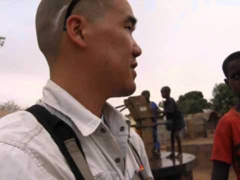 Gambia Lifewater Project -  3-28-12 Dankunku Health Center Post - Water Charity Jeremy Mak