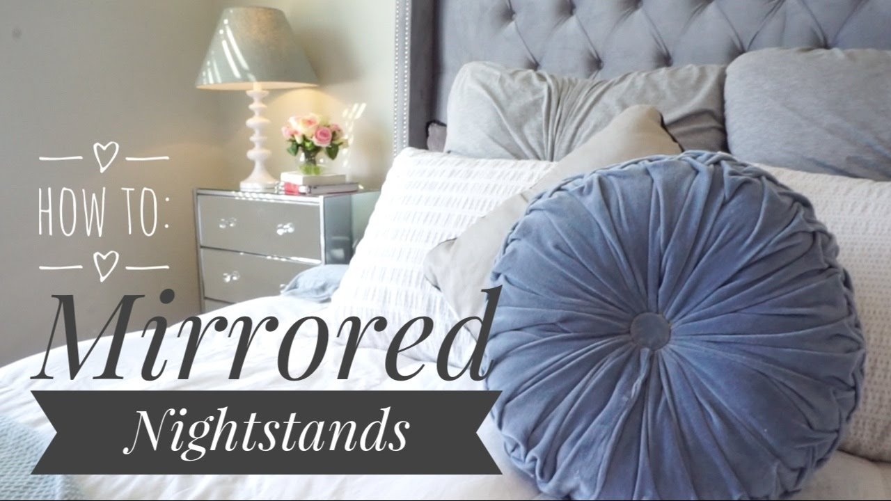 How To Make A Mirrored Nightstand Full Image For Diy Mirrored Furniture Adorable Small