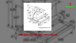 Bếp 365 - Giới thiệu sản phẩm Máy hút mùi Bosch DFS067J50B