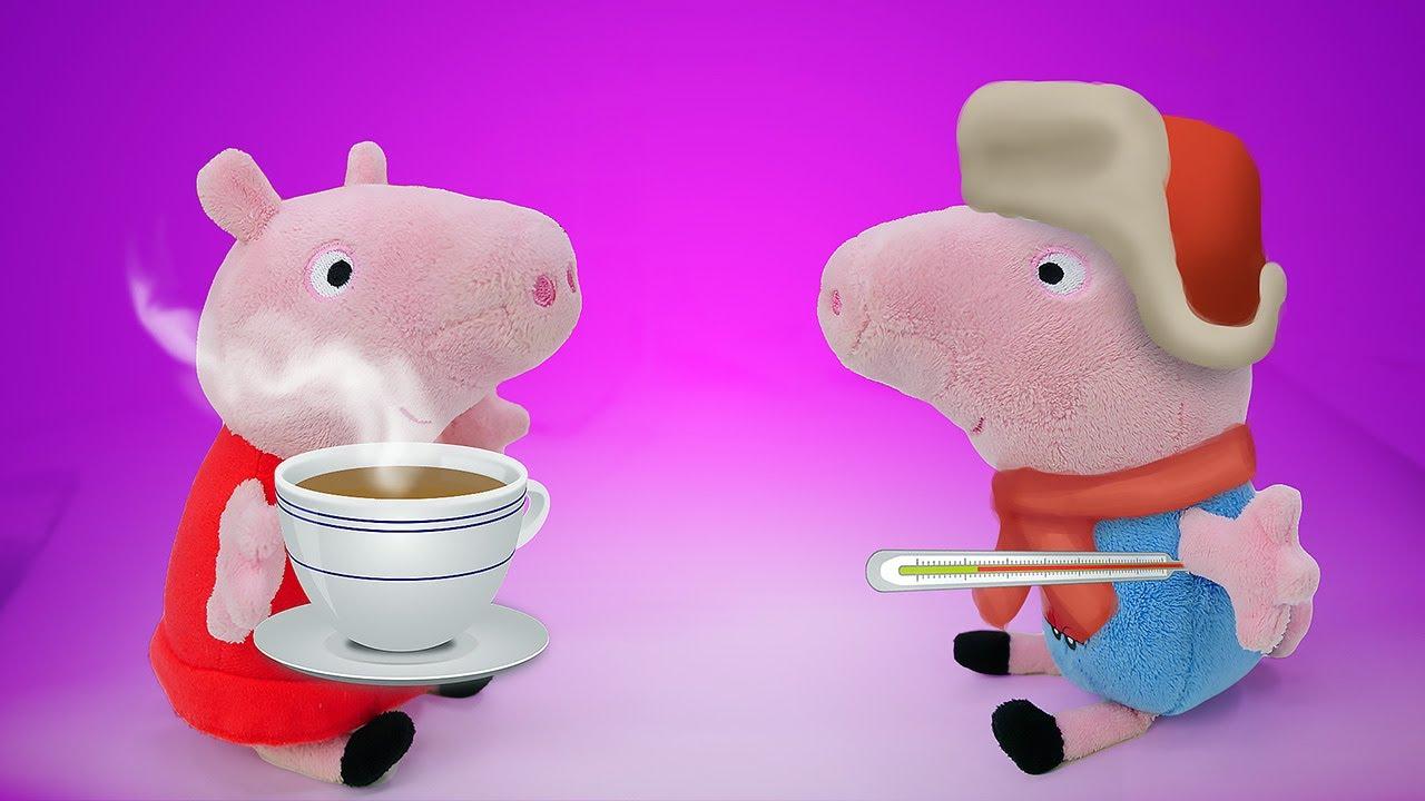 Джордж прыгает по лужам - Мультики игрушки Свинка Пеппа и ...