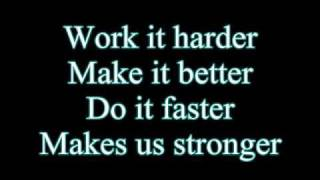Repeat youtube video Daft Punk-Harder Better Faster Stronger (Lyrics)